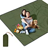 UBEGOOD Outdoor Picknickdecke 3 in 1 Tragbare Picknick-Matte wasserdichte Campingdecke Regenmantel kleines Zelt für Strände, Picknicks, Parks Matte Decke Wasserdicht - Grün (220*145cm)