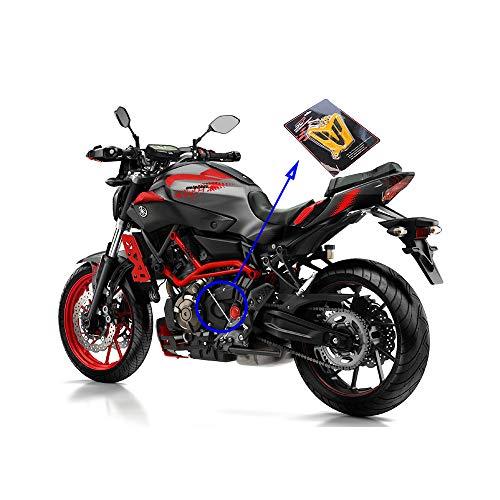 enorme inventario 100% genuino Nuova XQY Accessori Moto Coperchio paracatena per Catena Motore in Lega di  Alluminio CNC, per Yamaha MT07 MT 07 MT-07 FZ07 2013-2016,Silver