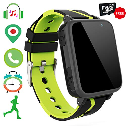 Kids Smartwatch Music Player Phone - Lettore Musicale MP3 Orologio da Polso Phone Touch Screen LBS Tracker Pedometro FM Bluetooth...