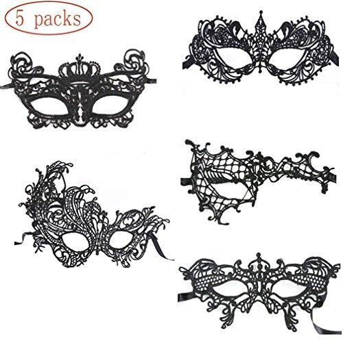 Frauen Vampir Perücke - 5 Modell Venezianische Maske Damen Spitze
