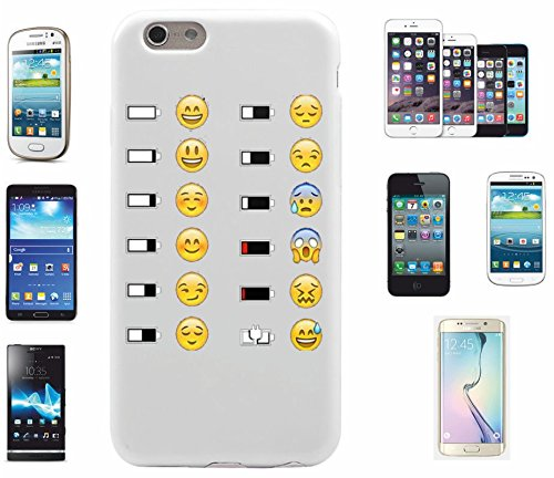 """Preisvergleich Produktbild Smartphone Case Samsung Galaxy S5 mini """"Emoji mit Glücklich/Unglücklichem Akku (stand) """", der wohl schönste Smartphone Schutz aller Zeiten."""