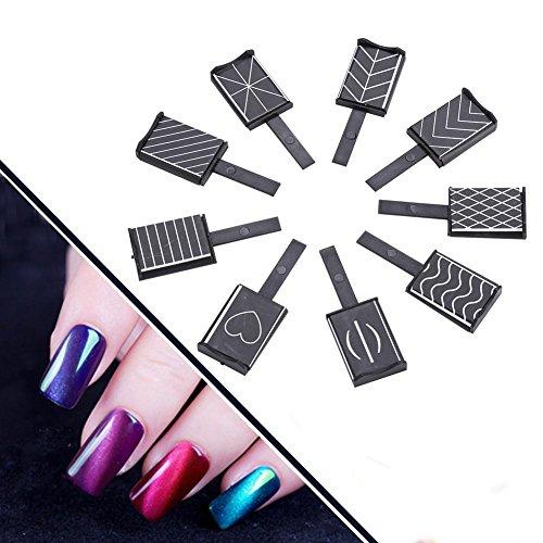 Rotekt 11 Stück/Set 3D Cat Eye Magnetische LED Nagellack Soak Off UV Gel Magnet Stick Maniküre Nail Art Tools