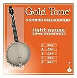 Gold Tone 5-String Cello Banjo Strings, Light Gauge