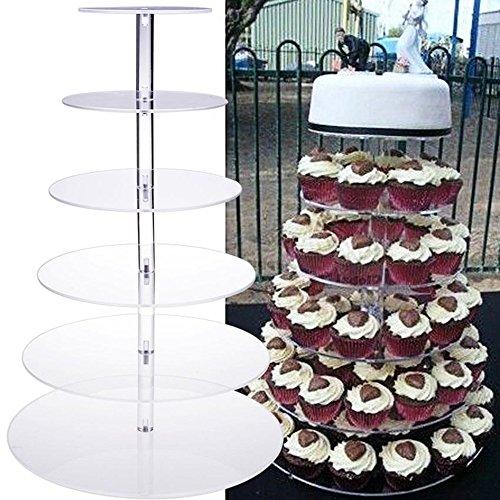 Tortenständer SummerRio Kuchen Nachtischständer Kuchenständer,Material aus Food Grade Acryl,für Geburtstag Hochzeit (6-Tier Stand) (Tier Stand 6)