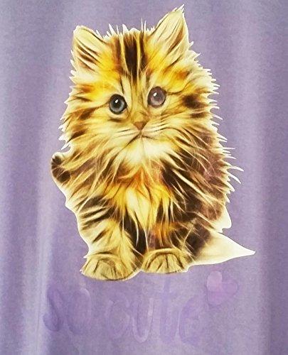 TopsandDresses Damen Nachthemd Ladies Purple Cat