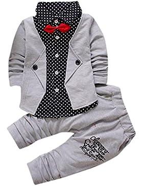 Bekleidung Longra Kinder Jungen Baby Gentry Kleidung Set formaler Party Taufe Hochzeit Smoking Bogen Anzüge &...