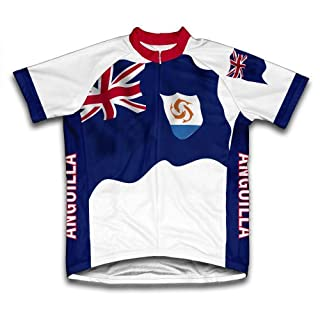 Anguila Flag Short Sleeve Cycling Jersey for Women - Size 3XL