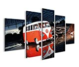 islandburner Bild Bilder auf Leinwand Bulli Bus V3 MF XXL Poster Leinwandbild Wandbild Dekoartikel Wohnzimmer Marke