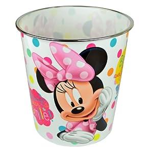 DISNEY MINNIE MOUSE BIN Papierkorb Mülleimer Abfalleimer fürs Schlafzimmer HOME Kinder Mädchen Slips auch neue