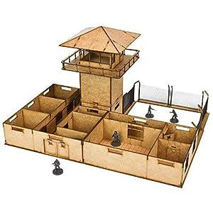 Mantic Games MGWD014 - Juego de ambientadores para la prisión, Color marrón