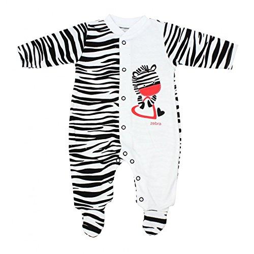 chlafstrampler mit Fuß Gemustert, Farbe: Zebra, Größe: 86 ()