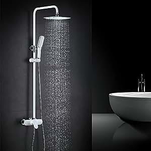 homelody blanc panneau de douche robinet de douche set de douche syst me de douche de douche. Black Bedroom Furniture Sets. Home Design Ideas