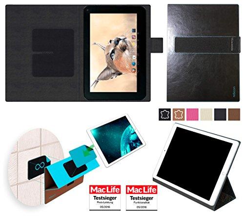 reboon Hülle für Blaupunkt Endeavour 1001 DVBT Tasche Cover Case Bumper | in Schwarz Leder | Testsieger