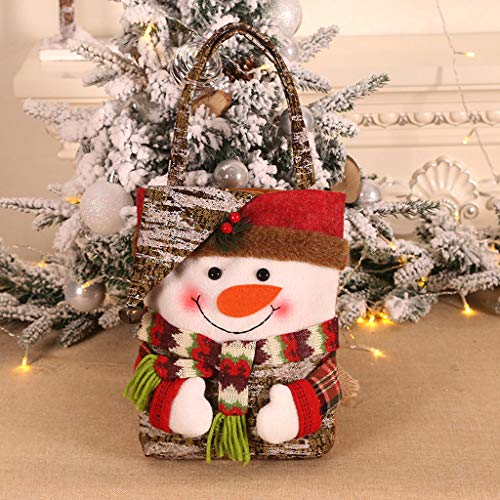Mitlfuny Christmas,Weihnachtsdekoration,Christmas Decorations,Christmas Vacation,Santa Claus Gift Bags Frohe Weihnachten Candy Bags Schneemann dekoratives Geschenk (Bad Santa Kostüm Halloween)