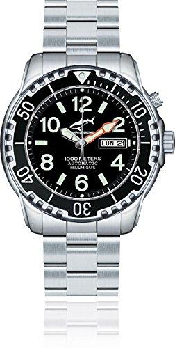 Chris Benz Deep 1000m Helium CB-1000-S-MB Reloj Automático para hombres Reloj de Buceo