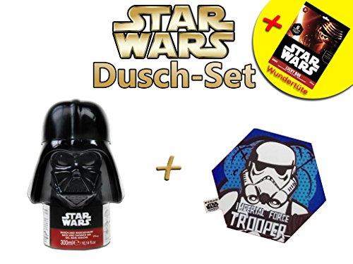 Star Wars Dusch-Set (Duschgel Designflasche + magisches Handtuch + Wundertüte) duschen