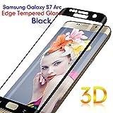 Vetro Temperato S7 Edge, TEFOMATE Pellicola Protettiva Temperato di Vetro Tempered Glass Screen Protector per Galaxy S7 Edge 5.5' [3D Curvo] (Silk Black-Nero)