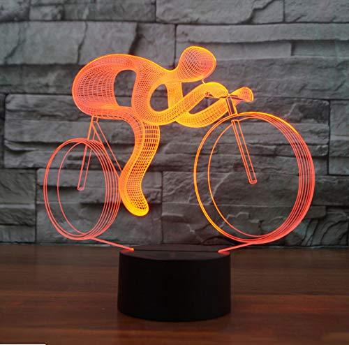7 Farbwechsel Visuelle Reiten Fahrrad 3D Led Tischlampe Usb Nachtlicht Fahrrad Leuchte Für Kinder Geschenke Nacht Dekor Touch Schalter