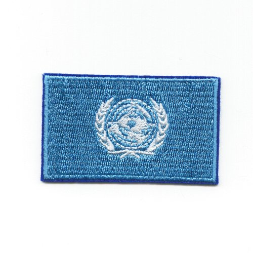 UNO Vereinte Nationen VN United Nations UN Flag Patch Aufnäher Aufbügler K-42 (Nations-flag United)