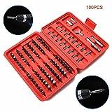 Alftek 100pcs sicurezza cacciavite elettrico Tamperproof Torx esagonale set di punte in acciaio al cromo vanadio