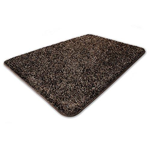 Floori® Shaggy Teppich Mistral | braun | zertifiziert mit dem Blauen Engel | 10 Größen | 80 x 150 cm -