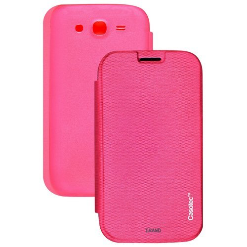 Casotec Premium Flip Case Cover for Samsung Galaxy Grand i9082 - Pink  available at amazon for Rs.125