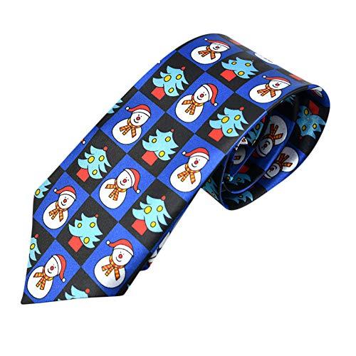 Xmiral Christmas Krawatte Santa Baum Rentier Print Floral Weihnachten Festival Tie(J)