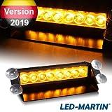 LED-MARTIN® 8W LED Straßenräumer V2.0, Frontblitzer - Feuerwehr - Polizei (Lichtfarbe: orange)