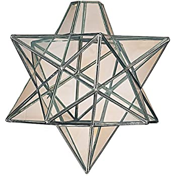 Moravian star clear glass chrome ceiling light shade pendant amazon moravian star clear glass chrome ceiling light shade pendant mozeypictures Choice Image