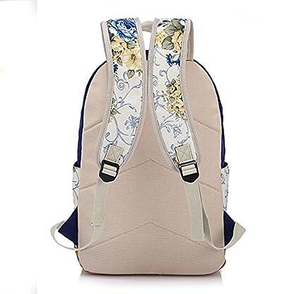51hPUZ%2BQ6xL. SS416  - Moollyfox Las niñas Lona Mochila floral del Ordenador portátil bolso de escuela Mochilas para estudiantes Bolsa de viaje