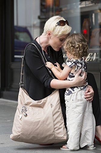 Okiedog Luxe Classic Juno Elegante borsa a tracolla con accessori beige