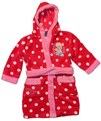 Preisvergleich Produktbild Frozen Die Eiskönigin Bademantel - Morgenmantel mit Kapuze in verschiedenen Farben & Größen (98 / 104,  Rot)