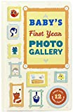 Baby's First Year Photo Gallery: Album with 12 Monthly Photo Cards