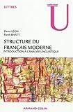 Structure du français moderne - Introduction à l'analyse linguistique