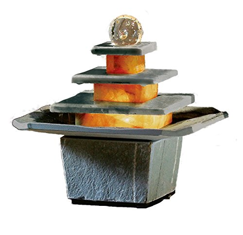 Schiefer-Brunnen Mandala von seliger® Zimmer-Brunnen Tisch-Brunnen (Brunnen Tisch)