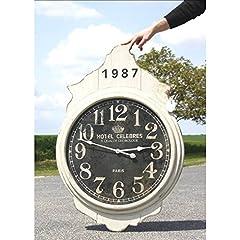 Idea Regalo - Orologio da parete grande orologio gigante in legno grigio e nero 5X 69x 102cm