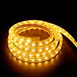 2M LED Streifen, Strip Aussen SMD 5050 Lichterkette IP65 Wasserdicht Warmweiß Flexibel Leiste 60 LEDs/M