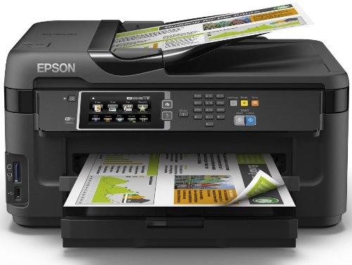 Epson WorkForce WF-7610DWF - Impresora multifunción de tinta (WiFi, WiFi Direct y Ethernet, color 10 PPM, USB), color negro