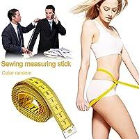 Waroomss 1 STÜCK 150 cm Tape Maßnahmen Tuch Maßband Weiche Flexible Herrscher für Körper Nähen Schneider Zufällige Farbe Wählen