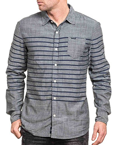 Deeluxe 74 - Chemise homme grise à rayures Gris