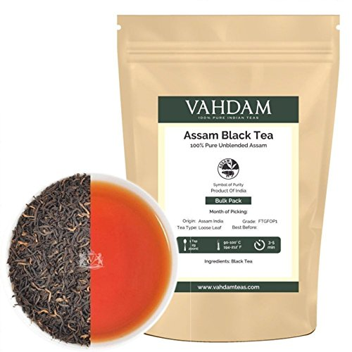 Assam Black Tea Leaves from India (225 Cups),