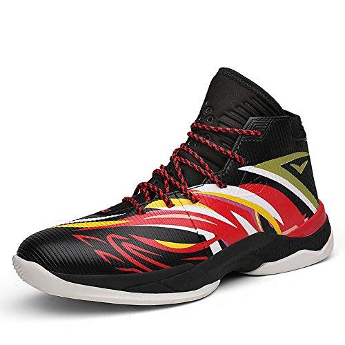 Aus Basketball-schuhe (ASHION Herren Outdoor Sportschuhe Profi-Basketball-Schuhe (40 EU, Schwarz2))