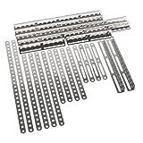 Eitech 00101 - Ergänzungs Metallbauteile - Winkel, Flachstäbe mit 11-25 Löchern