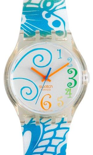Swatch SUJK114 - Orologio da polso da donna, cinturino in plastica multicolore
