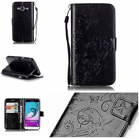Meet de Farfalla filiale goffratura Caso / copertura / Telefono / sacchetto Per Samsung Galaxy (Accessori Rinnovato)