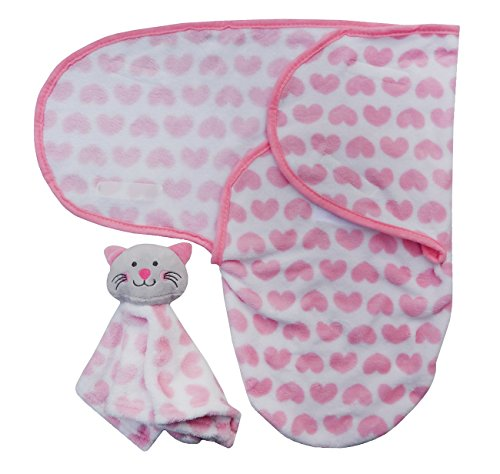 Baby Super Soft Swaddle Decke mit Tröster rose