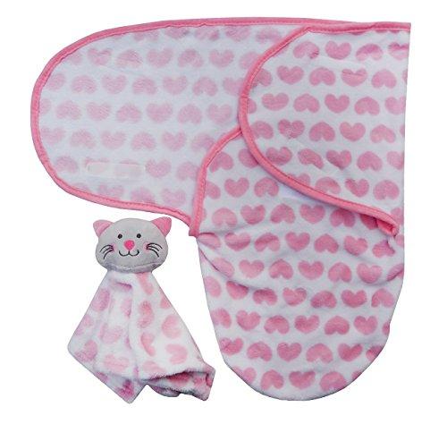Baby Super Soft Swaddle Decke mit Tröster rose
