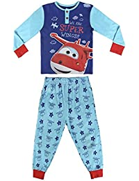 Super Wings - Pijama Manga Larga 2 Piezas Interlock 100% Algodón