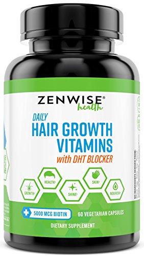 Hair Growth Vitamins Supplement - 5000mcg of Biotin & DHT Blocker for Hair  Loss and Baldness - Contains Vitamins That Stimulate Hair Growth & Shine