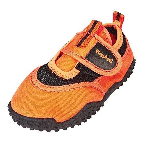 GALLUX - Mädchen Jungen Aqua Schuhe Badeschuhe Strandschuhe in Neonfarben Orange